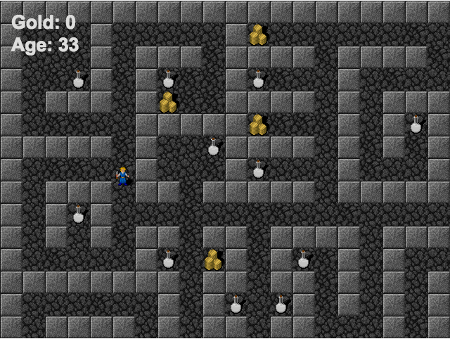 Screenshot of age game prototype